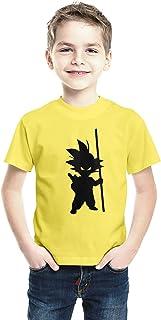 American-Elm White Half Sleeves Regular Fit Cotton Printed T-Shirt for Kids | Boys Stylish Round Neck T-Shirt (PBHST-Drago...