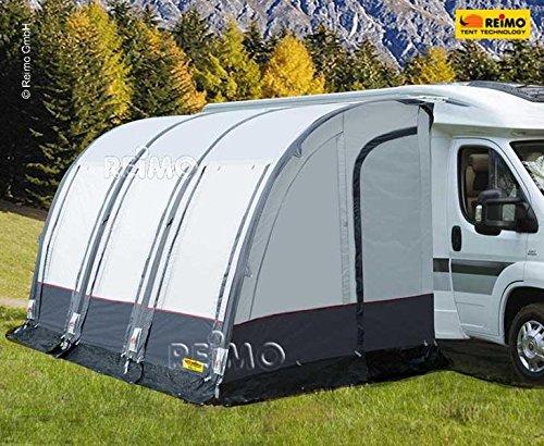 RTENT Luftzelt für Wohnmobile CASA AIR, hellgrau/dunkelgrau, inkl.Luftpumpe B390xT250xH260-280cm