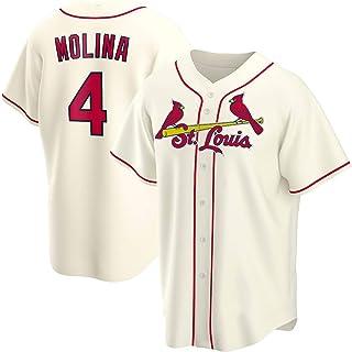 DWQ Molina Men's Jersey, 4 Cardinales Jerseys de béisbol Versión de Fans Personalidad Casual Uniforme de Deportes Botón de...