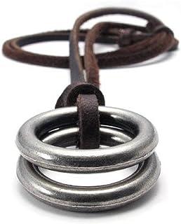jonline24h Mens Womens Jesus Cross Pendant Adjustable Leather Cord Necklace Chain, Brown