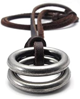 Mens Womens Jesus Cross Pendant Adjustable Leather Cord Necklace Chain, Brown