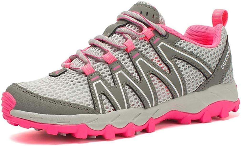 Women's Mesh Hiking Shoes Lightweight Outdoor Running Trail Hiker Non-Slip Waterproof Casual Shoe Gray