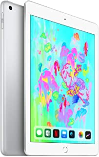 Apple iPad 2018 with Facetime - 9.7 Inch Retina Display, 32GB, WiFi, Silver