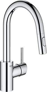 GROHE 31479001 Concetto Single-Handle Kitchen Faucet, Starlight Chrome
