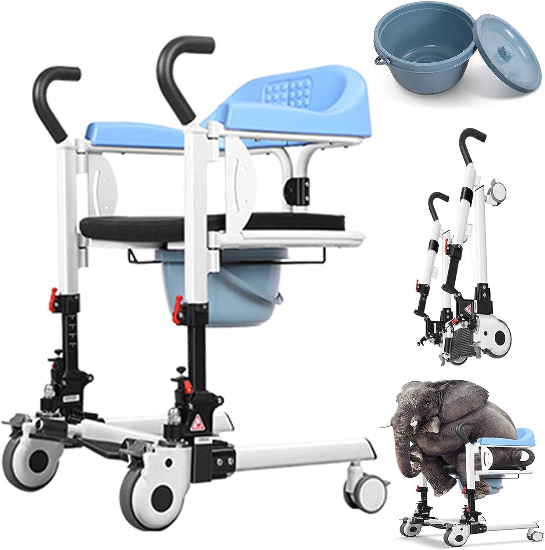 Silla de ruedas plegable premium, autopropulsable, ortopédica, para minusválidos, reposapiés y reposabrazos abatibles, elevador portátil para transporte de pacientes con asiento dividido en 180 °