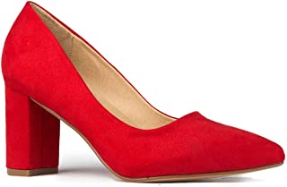 Best Jolie Heels for Women - Closed Pointed Toe Mid Block Heel Classic Pumps Review