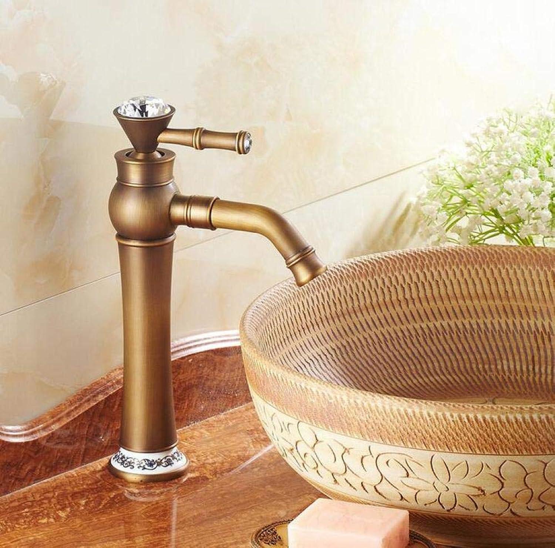 Messing Chrom Retro heies und kaltes Wasser Kupfer Antik Wasserhahn Antik Gebürstet hei und kalt Wasserhahn Bad Arbeitsplatte Wasserhahn