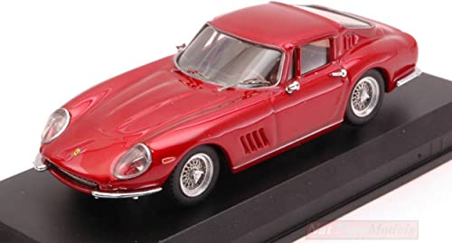 Best Model BT9663 Ferrari 275 GTB 4 1966 rouge Metallic 1 43 MODELLINO Die CAST Compatible avec