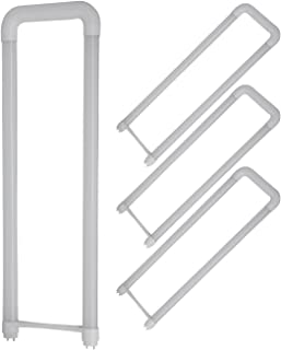 T8 U Bent LED Tube Light - Romwish 18W(40W Replacement) 2x2FT U Bend LED Bulbs, 6 in. Leg Spacing, 5000Kelvin Daylight, 2000 Lumens, Dual-Ended Powered, Ballast Bypass, Frosted Cover (4 Pack)