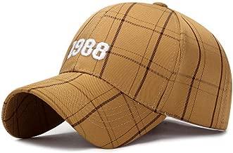 KFEK Embroidery 1988 Fashion Lattice Baseball Cap Spring and Autumn Seasons New Youth Sun hat