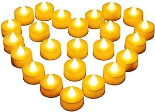 24 LED Kerzen, Diyife® LED Flammenlose Tealights, Flackern Teelichter, elektrische Kerze..