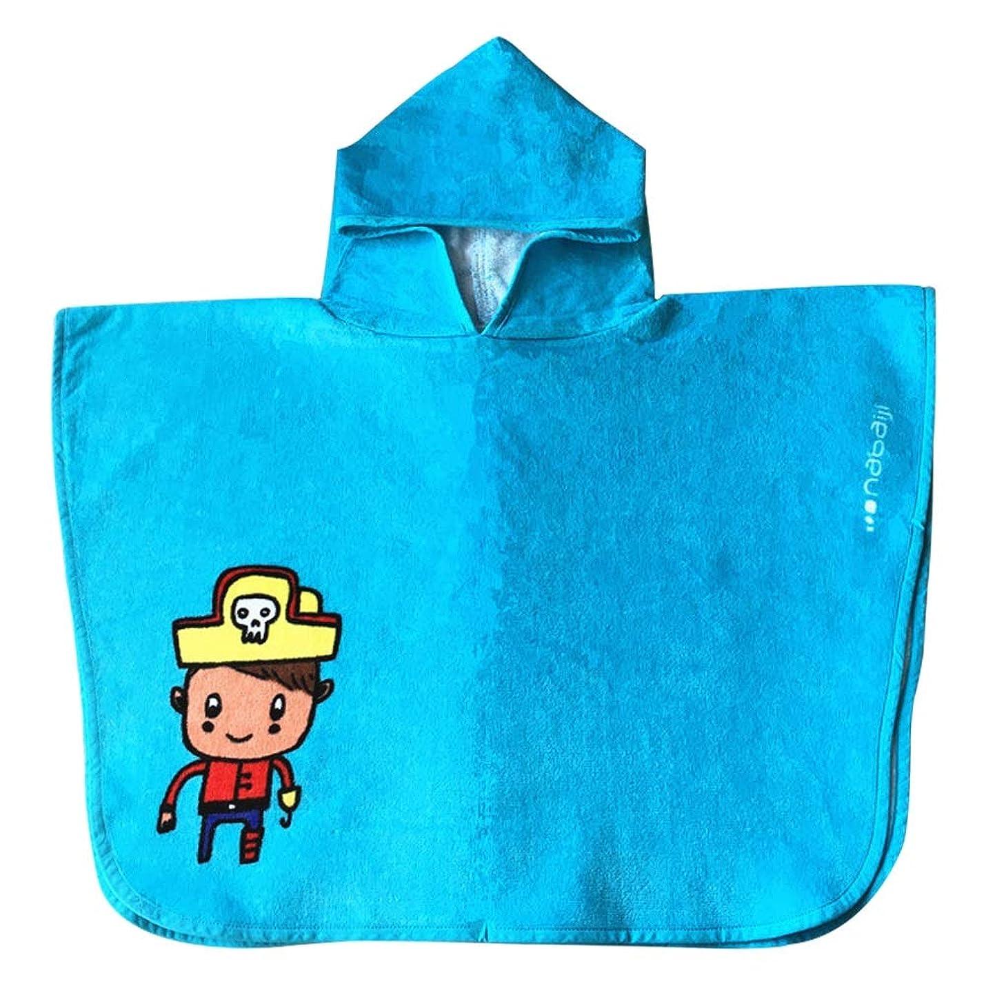 原油福祉コインキッズ/幼児タオル - 綿100% - キッズバスタオルビーチタオルプールスイミングカバーアップなどに使用 - すべての季節のための超通気性とソフト - 45 * 70 cm / 17.5 * 27.5インチ (Color : Blue)