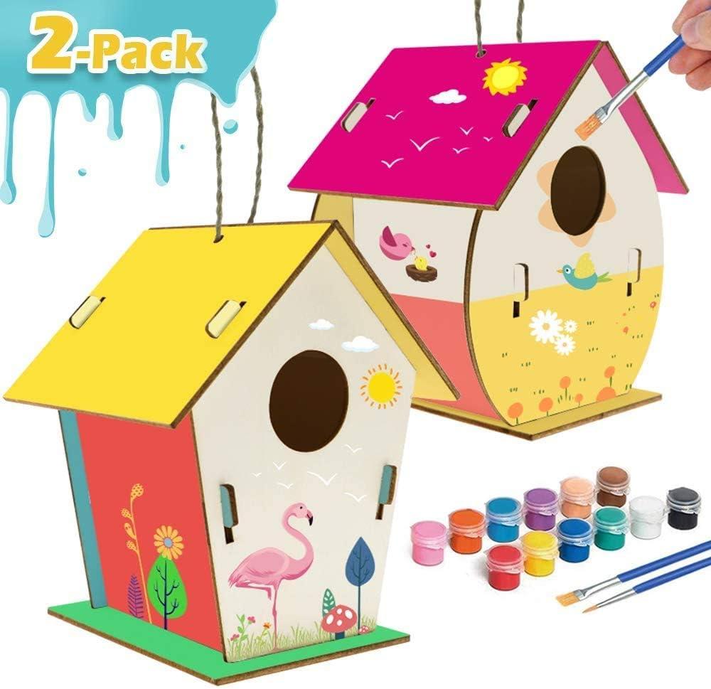 xinxintai Artigianato per Bambini Arti e Mestieri in Legno per Bambini Kit Fai-da-Te per Casette per Uccelli per Bambini per Costruire e dipingere Design Rinforzato