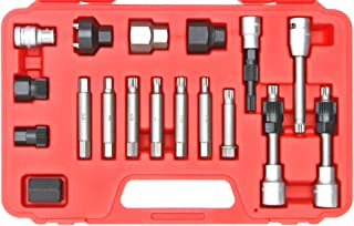 PMD Products 18pc Alternator Pulley Service Tool Kit for Repair of Bosch Magneti Marelli for AUDI BMW Mercedes Benz GM Chrysler JEEP VW