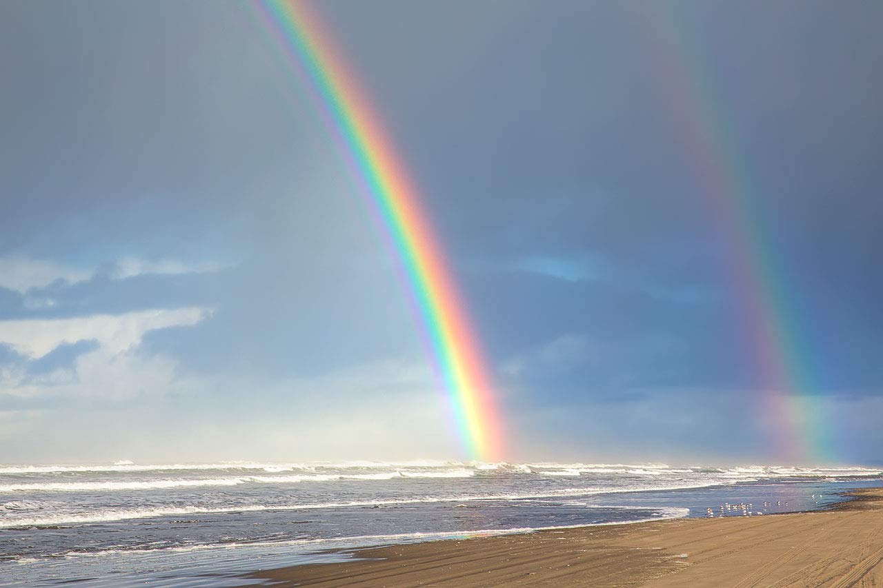 Beach Ranking TOP11 Rainbow Photo Super beauty product restock quality top! Print Shores Se Double Photography