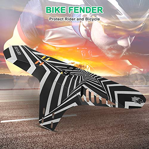 """icyant 2 Pack Mudguard Bike Fenders - Adjustable Bike Mud Guard Fender - Reflective and Foldable Back Fender for Mountain Bike Includes 6 Pcs Zip Ties Fit for 20"""" 26"""" 27.5"""" 29""""of Bicycles"""