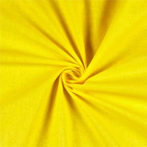 STOF France Aquitaine 61'' Solid Cotton Yellow, Fabric by the Yard