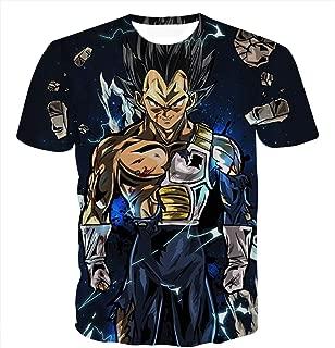 Unisex 3D Dragon Ball Goku Short Sleeve T-Shirts Creative 3D Print Anime Tees