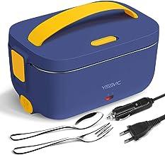 YISSVIC Boîte Chauffante 3 en 1 220V 12V 24V Lunch Box Chauffante Électrique 1,5L Boîte Repas Amovible en Acier Inoxydable...
