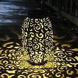Hanging Solar Lights Outdoor Solar Lanterns Retro Hanging Solar Lantern Garden Outdoor Lights with Handle,...