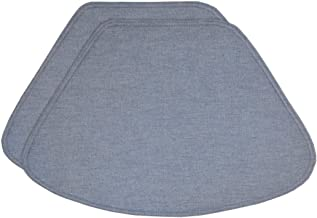 Sweet Pea Linens Set of 2 Blue Denim Wedge-Shaped Placemats for Round Tables
