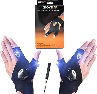 LED Flashlight Gloves Men's Gifts for Dad or Boyfriend LED Light Gloves for Men Women Mechanics, Electrician, Hands Free G...