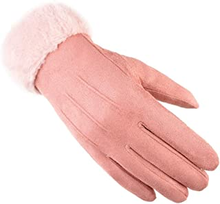 SGJFZD Women Winter Gloves Outdoor Windproof Touch Screen Texting Driving Elegant Gloves Windbreak Gloves (Color : Pink, Size : OneSize)