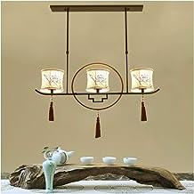 Kitchen Modern Chinese Chandelier Three-Head Rectangular Ceiling Light Zen Room Han Lamp Study Classic Pendant Light