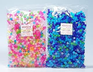 Konpeito Japanese Tiny Sugar Candy Crystal (2 Big bags. Total 1000g (2.2 lbs))