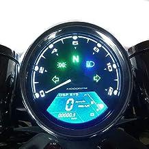 SAMDO Universal Speedometer 12000 RPM LCD Digital Speedometer with Odometer Tachometer 199 Kmh Motorcycle Speedometer 1,2,4 Cylinders