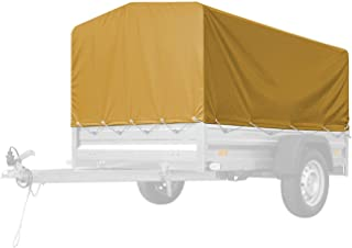 Afdekzeil H-800 200x125 voor aanhangwagen Garden Trailer 205 - GEEL