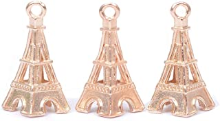 Cute Tower Pendant Gold Plated Brass Women Jewelry Finding Charms for Teens DIY Jewelry Making Supplieses