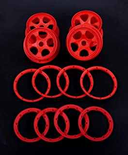 HONG YI-HAT Rc car 1/5 gas baja tyre tire wheel nylon front and rear wheel hubs set 85263 スペアパーツ (Color : White)