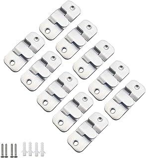 comprar comparacion MZMing 10 Pares Paquete de 20 Soporte Empotrado de Montaje Oculto Enclavamiento Hebilla Soporte de Pared de Acero Inoxid...