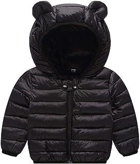 Mousmile Newborn Toddler Baby Boys Girls Puffer Jacket Winter Warm Cotton Padded Jacket Bear Ears Hooded Coat