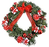festive red and white christmas wreath - Small Christmas Wreaths