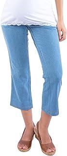 c5885463aafc4 Morph Maternity - Light Blue Denim Capri/Maternity Wear/Pregnancy Wear/Maternity  Pants