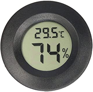 XYXZ Mini Higrómetro Digital Redondo LCD Termómetro Digital Higrómetro Sensor Sonda De Temperatura Medidor De Humedad Redo...