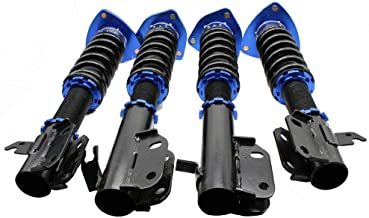 Coilovers Kit Racing Coilover Suspension Lowering Shock Absorber Struts Spring Kit Fit for Subaru-Impreza WRX 2002-2007 STI 04 GDA GDB, WRX Wagon 2.5RS Models (Blue)