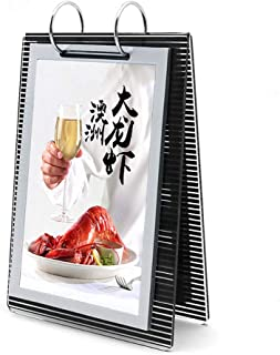 JANRON Acrylic Portrait Counter Poster Display Stand T Shaped Double Sided Restaurants Advertisement Price List Instruction,Photo Frames Documents - 90x154mm