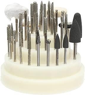 40 PCS Slow Speed Micro Polishing Drill Bits Include Tungsten Carbide Burr, Silicone Polishers, Diamond Burs, Hair Brush