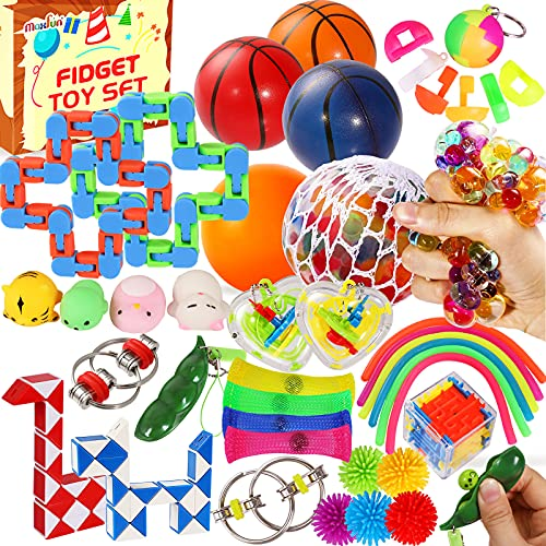 Max Fun 36 Pack Sensory Fidget Toys Pack Bulk, Stress Balls Relief Anxiety Relief Tools Toys for...