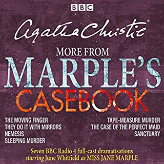 More from Marple's Casebook     Full-Cast BBC Radio 4 Dramatisations              By:                                                                                                                                 Agatha Christie                               Narrated by:                                                                                                                                 full cast,                                                                                        June Whitfield                      Length: 8 hrs and 44 mins     197 ratings     Overall 4.7