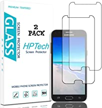 HPTech Galaxy J3 2017 Screen Protector - (2-Pack) [Japan Tempered Glass] for Samsung Galaxy J3 Luna Pro/ J3 Prime/ J3 Emerge/ J3 Eclipse Easy to Install with Lifetime Replacement Warranty
