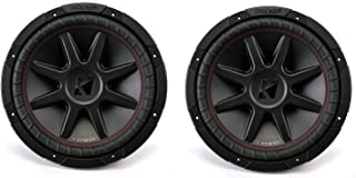 Kicker 43CVR122 CompVR 12 Inch 1600 Watts 2 Ohm Dual Voice Coil Car Audio Subwoofers with Santoprene Surround and Progress... photo