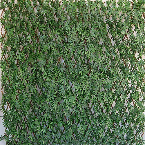 Tenax Künstliche Hecke mit Blättern, ausziehbar, Weide, Divy 3D X-Tens Acer Palmatum, 1 x 2 m, Grün