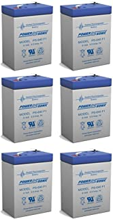 Exit Sign Battery 6V 4.5Ah backup - 6 Pack