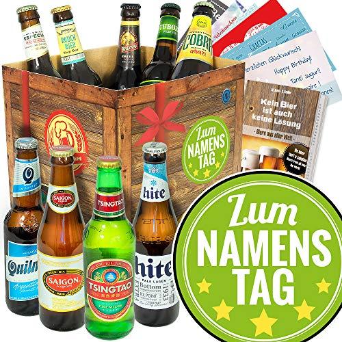 Zum Namenstag + Biersorten aus aller Welt + Namenstag Geschenk Freundin