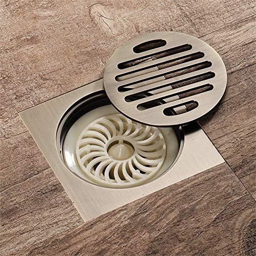 XLAHD Abflussabdeckung, quadratischer Badezimmerboden Abflussfilter Dusche Abnehmbare Abdeckung Messing für Duschraum Toilette Wäscherei Garten Außenbadewanne Zubehör Abflusssysteme