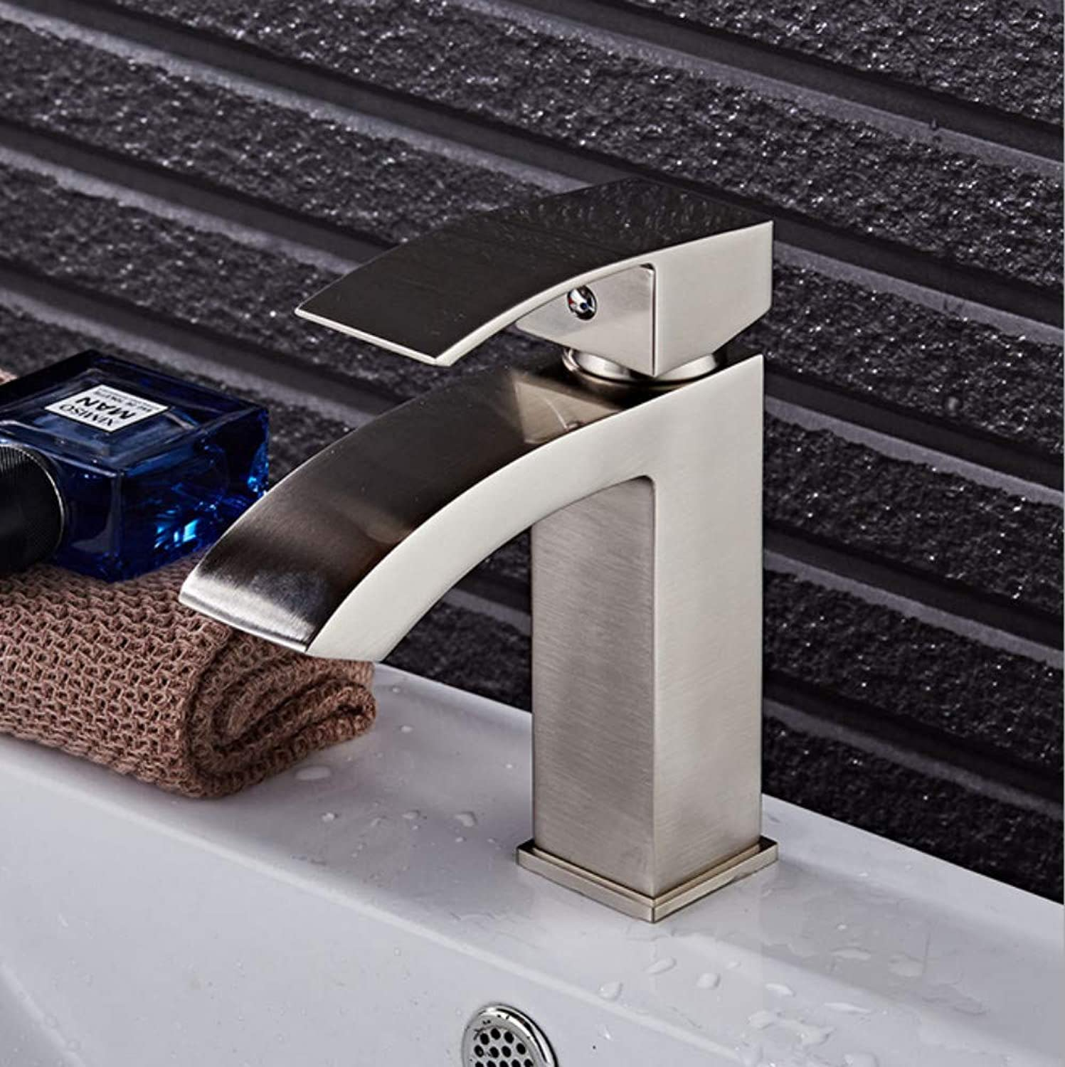 Xiujie Faucet Copper Bathroom Basin Faucet Above Counter Basin Bathroom Cabinet Single Handle Single Hole Hot and Cold Water Faucet